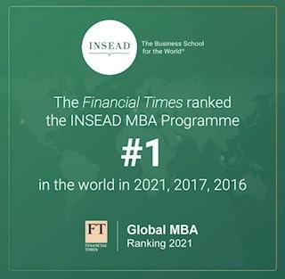 Το INSEAD βρίσκεται στην κορυφή της κατάταξης σύμφωνα με τους Financial Times